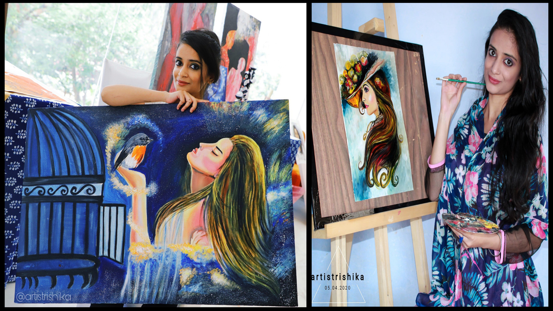 A zeal to pursue her passion of story telling through Canvas - The story of this Young Artist Rishika Sharma!