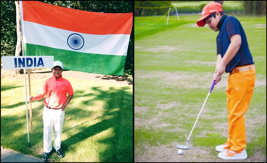 Remarkable support from Parents & School makes Chaitanya Pandey conquer in Golf