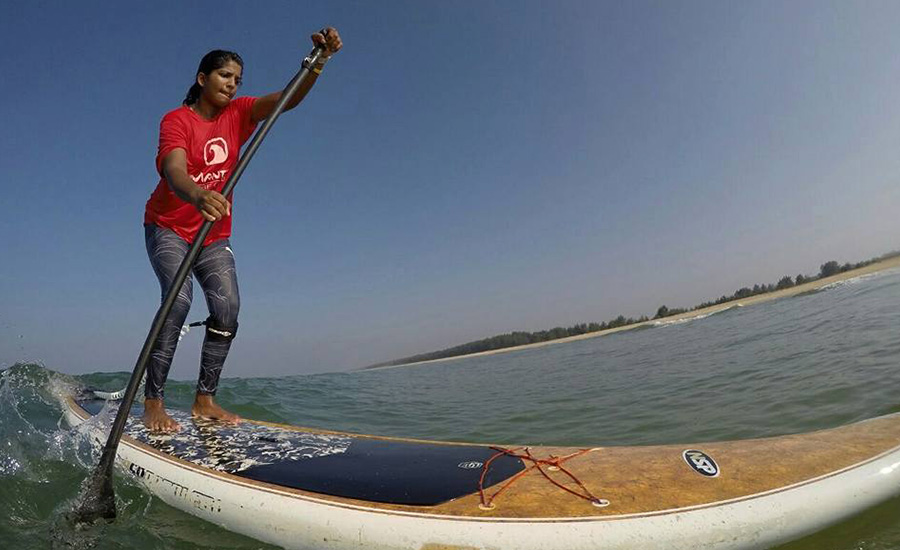 SUPer girl from Mangaluru who represents INDIA in Stand Up Paddling (SUP) - Tanvi Jagadish